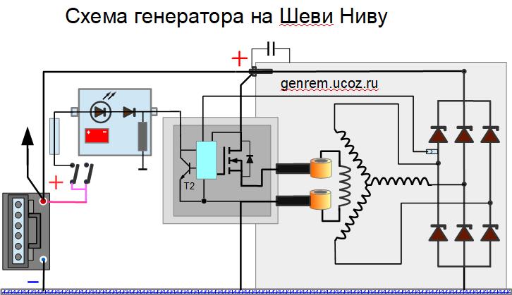 Схема Нива шевроле B-Circuit