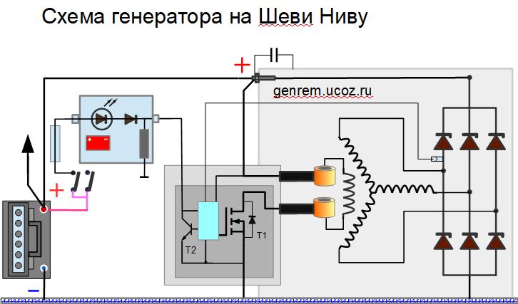 схема генератора Нива Шевроле